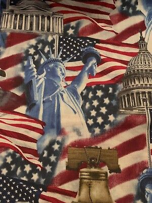 Americana Fabric Statue of Liberty American Eagle Flag Liberty Bell Capitol BTY - Capitol Costume