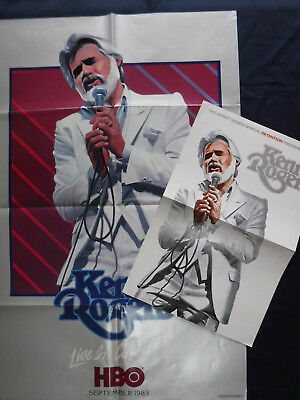 2 ORIG 1983 KENNY ROGERS POSTERS Country Western Music Concert HBO TV