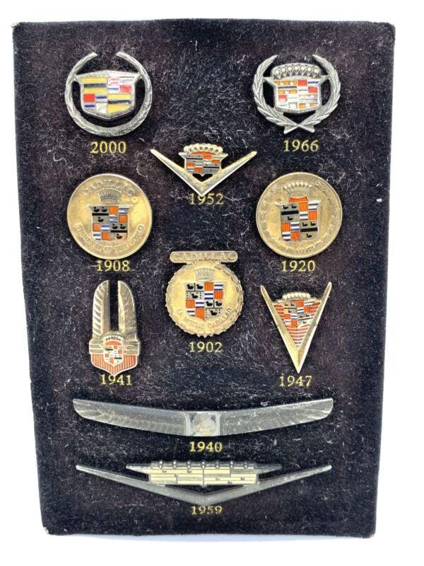 Vintage Colection Set Of 10 Cadillac Enamel Emblem Lapel Pin.