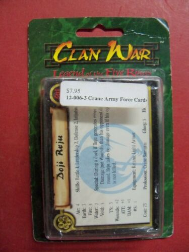 CLAN WAR CRANE ARMY FORCE CARDS SEALED BLISTER NEW OOP #12-006-3