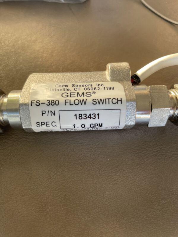 Gems Sensors, FS-380 Flow Switch, 183431, 1.0 GPM
