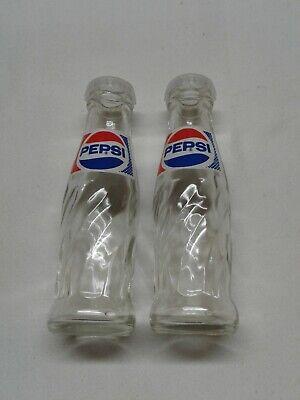 Pepsi - Vintage Glass Salt and Pepper Shakers Mini Bottles Brockway (Mini Salt Pepper Shakers)