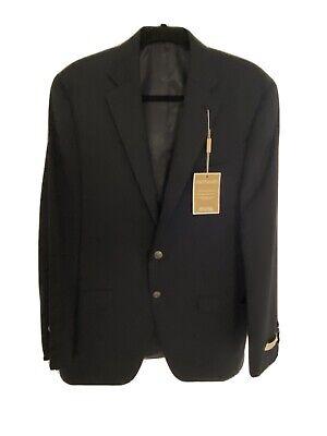 Michael Kors 40R Men's Navy Blue Modern Fit Wool Blazer Sport Solid Coat Jacket