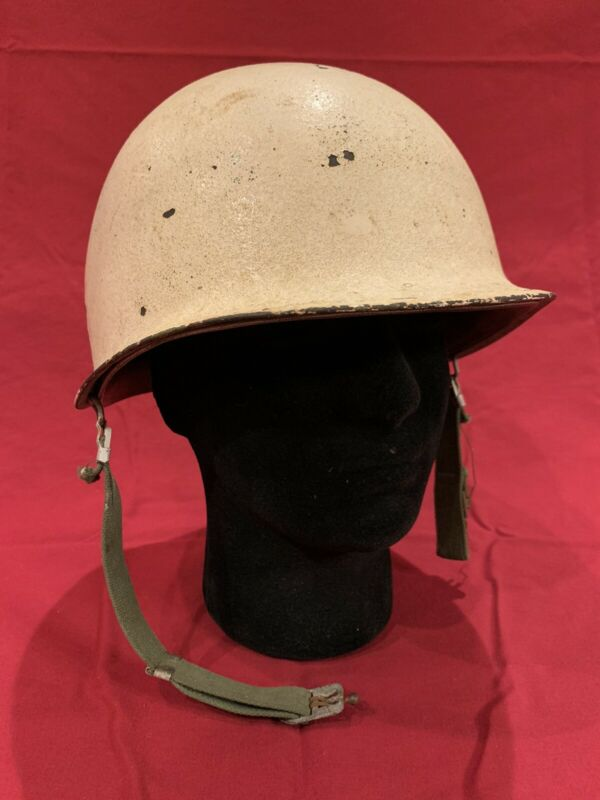 ORIGINAL WWII Winter Camo M1 Helmet With MATCHING LINER - White Camouflage