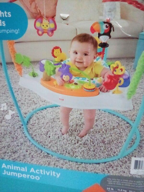 Fisher-Price FFJ00 Animal Activity Jumperoo Baby Child NEW