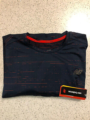 MENS NEW BALANCE DRI-FIT T-SHIRT IN NAVY (SIZE XXL) NEW WITH TAGS