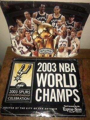 2003 NBA Championship Poster San Antonio Spurs Artwork - San Antonio Spurs Memorabilia