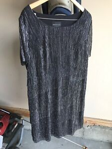 20w black and silver dress.