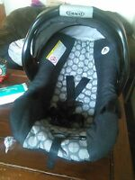 car seat and double stroller