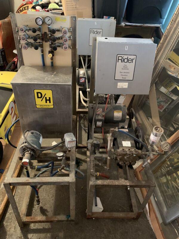 Car Wash Equipment Pump Stations & Chemical Tank