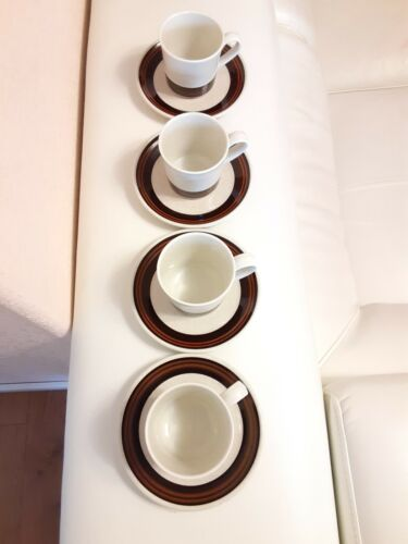 Royal Doulton LAMBETHWARE Bistro 1978 LS1035 Tea Cup And Soucer 4sets - $49.99