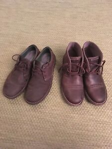 2 pairs of Clark's Leather Shoes Size 10.5
