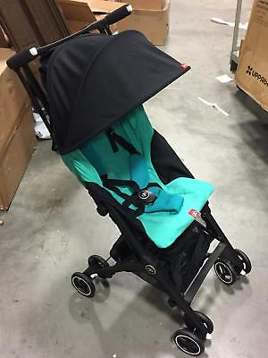GB Pockit + Plus Travel Compact Folding Single Seat Baby Stroller in Laguna Blue