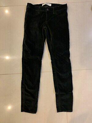 Abercrombie & Fitch Women Black Corduroy Pants Size 2 W26