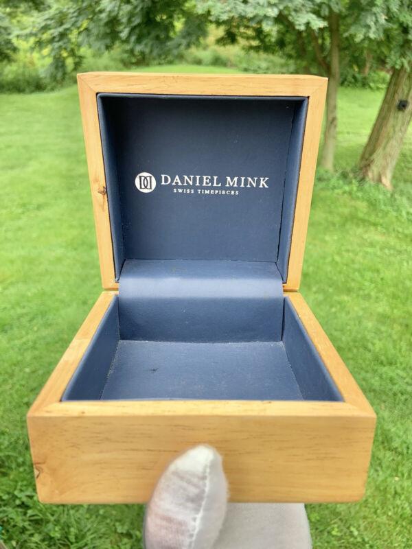 Empty Replacement Daniel Mink Wooden Watch Box - Swiss Timepieces