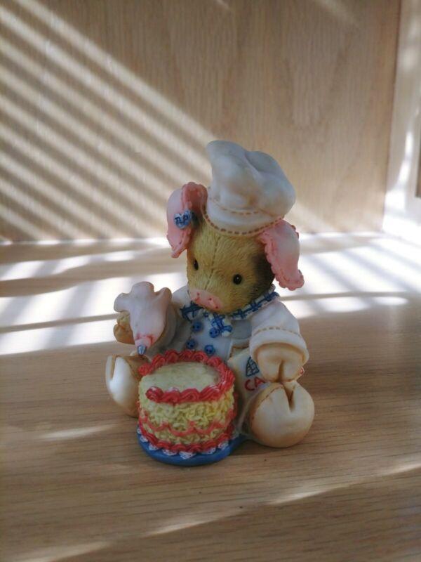 "This Little Piggy Figurine ""Bacon A Cake"" Enesco 1994"