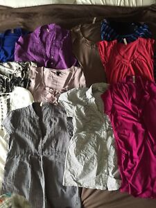 Maternity clothes (mostly size small)