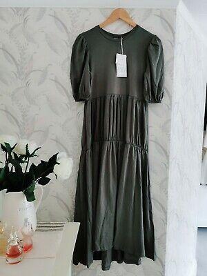 Zara Garthered  Midi Dress Size M BNWT