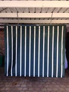 Outdoor Blind Green & White Stripe Maroochydore Maroochydore Area Preview