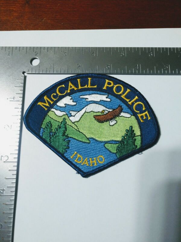 F Police patch patches Idaho McCall eagle