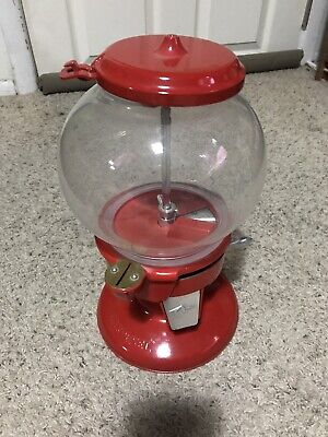 vintage carousel gumball machine Single Head VTG Red NoStand Very Condition