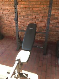 Gym bench, leg curler and squat rack Minchinbury Blacktown Area Preview