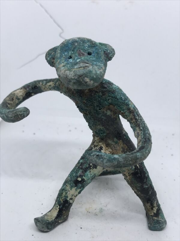 CIRCA 1000 BCE ANCIENT LURISTAN BRONZE MONKEY FIGURINE VERY RARE