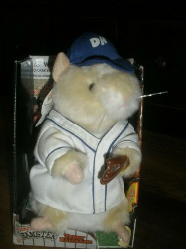 "Gemmy Dancing Hamster Teddy Ballgame 2001 Dances ""Take Me Out To The Ballgame"""