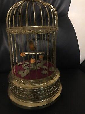 Vintage German Karl Griesbaum Singing Bird Cage Automation Music Box