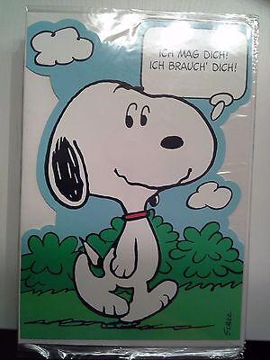 Geburtstagskarte Snoopy Peanuts neu & unbenutzt natürlich Glückwunschkarte