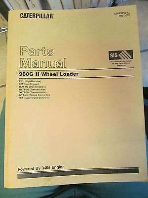 Parts Manual For 980g Ii Caterpillar Wheel Loader