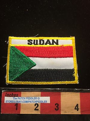 Africa Patch ~ Country Of Sudan ~ Vtg Jacket Emblem ~ Flag Theme. 63EE