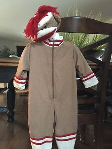 Sock Monkey Halloween Costume-size 12 mos