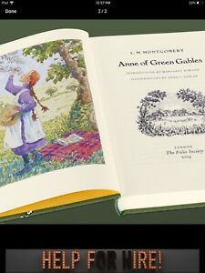 Brand NEW Anne of Green Gables HC w/ Case, Folio illustrated