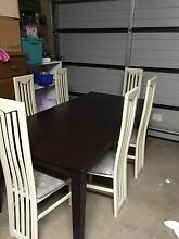 Timber dining table and 6 chairs Wauchope Port Macquarie City Preview