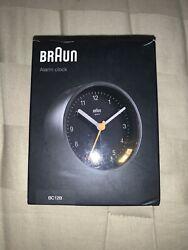 Braun Classic Alarm Clock with Snooze, Alarm & Light Quiet Quartz Movement BC12B