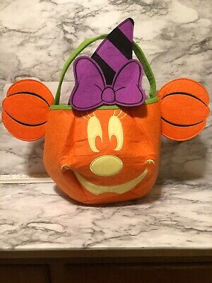 Trick Or Treat Halloween Store (DISNEY Store HALLOWEEN 2018 TRICK OR TREAT Felt Bag MINNIE Mouse Witch)