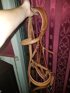 New brown leather bitless bridle with reins Sunbury Hume Area Preview