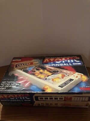 Vintage 1979 Tomy Atomic Arcade Pinball Game In Original Box WORKS!