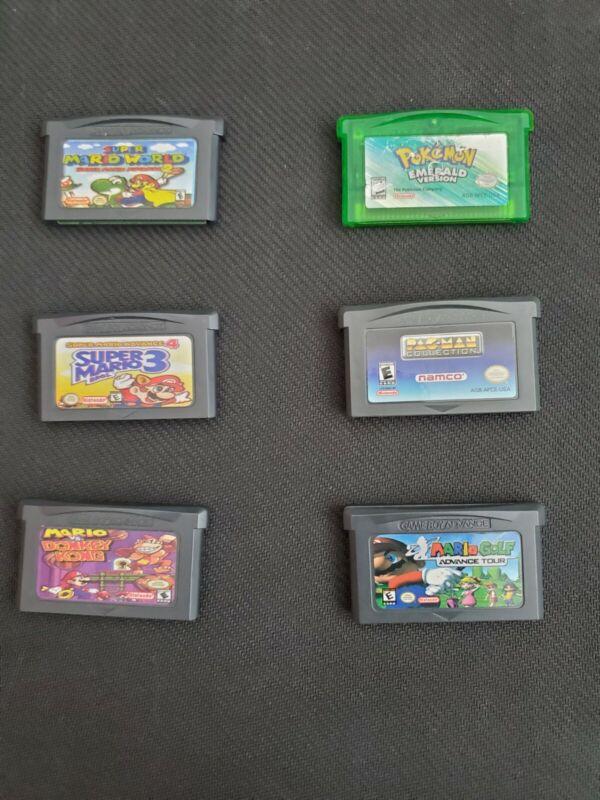 6 Gameboy advance games lot