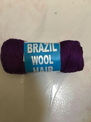 Blue Brazilian Wool Hair For African Hair Braiding Sengalese Twisting Best