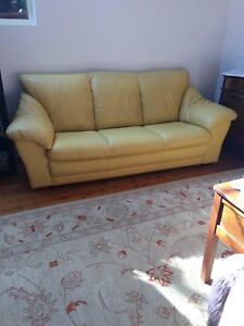 3 seater leather lounge sofa couch - can deliver  Bruce Belconnen Area Preview
