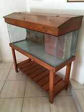 4ft fish tank with wood stand Buderim Maroochydore Area Preview