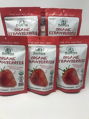 Natierra  Organic Freeze-Dried  Strawberries 1.2oz  34 g. 6pk, (1-74)