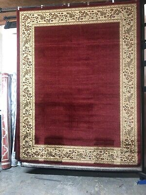 Burgundy Ivory Rug - Burgundy Ivory ROOM SIZE Area Rug For The Home. Summer Decor 🌴NEW