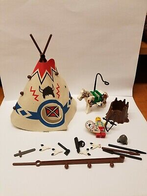 LEGO 6746 - VINTAGE WESTERN INDIANS CHIEF TEPEE - LOT PARTS HORSE