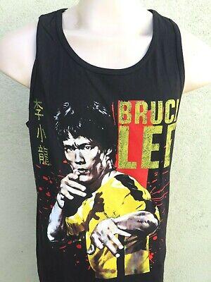 BRUCE LEE Men's Black Tank top Karate Kung Fu Martial Arts Yellow Jumpsuit - Bruce Lee Yellow Jumpsuit
