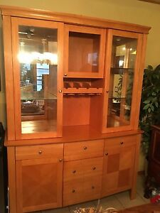 Very nice two piece China Cabinet