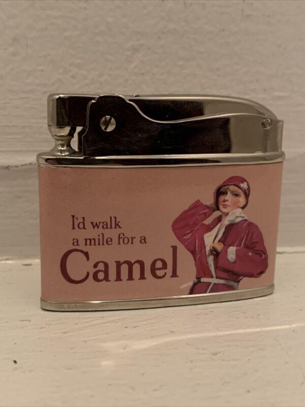 Firebird Camel Lighter Pink Vintage NOS Walk A Mile Cigarette Japan