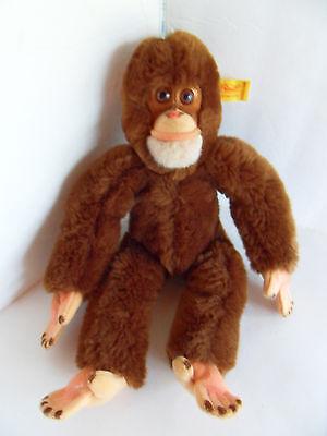 Steiff monkey chimpanzee button flag stuffed animal Germany 2257